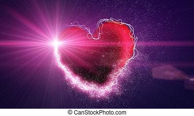 shiny heart shape and illuminant se - shiny heart shape...