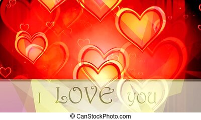 Shiny heart. Valentine's Day. Background with a red hearts