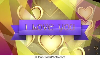 Shiny heart. Valentines Day. Background with a hearts -...