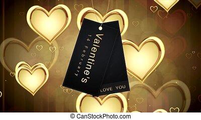 Shiny heart. Valentines Day. Background with hearts - Shiny...
