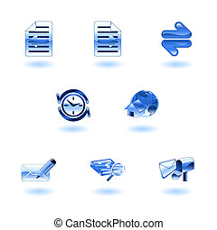 Shiny internet browser icon set