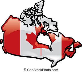 Shiny Map Of Canada