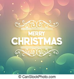 shiny merry christmas greeting colorful background
