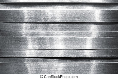Shiny metal strips