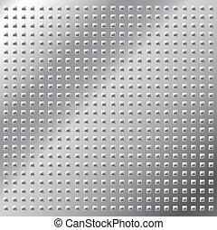 Shiny metal stud seamless pattern