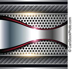 background - Shiny metallic background, vector.