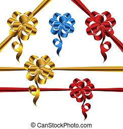 Shiny metallic bow set