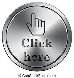 Shiny metallic icon - Metallic icon with carved design