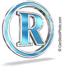 Shiny Metallic Registered Trademark Symbol