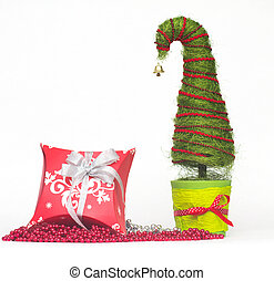 Christmas tree made of sisal
