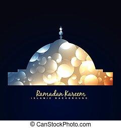 shiny mosque design background