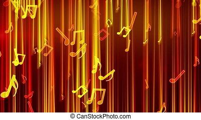 shiny notes falling loop