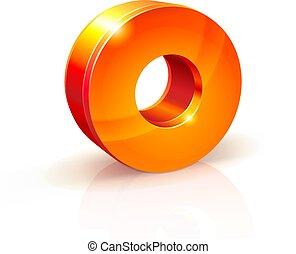 shiny Orange Red 3d number 0