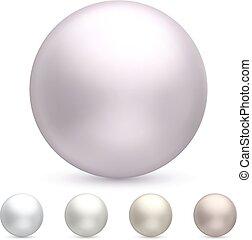Shiny pearl isolated on white background