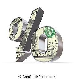 Shiny Percentage Down - 5 Dollar Note Texture - shiny...