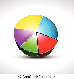 shiny pie graph icon