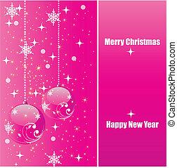 Shiny pink christmas background