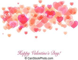 Shiny pink hearts Valentine design