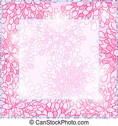 Shiny Pink Square Floral Card Frame
