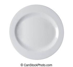 shiny plate isolated
