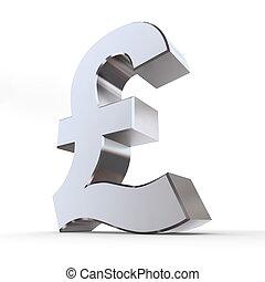 Shiny Pound Symbol - shiny pound symbol in a chrome and ...