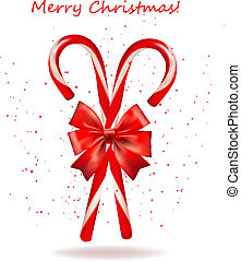 Shiny red Christmas candy cane with