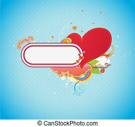 shiny red heart