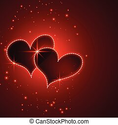shiny red valentines day hearts background