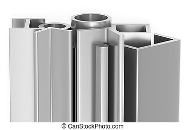 Shiny rolled steel metal products - Metallurgical industry...