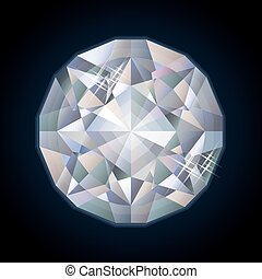 Shiny royalty diamond, vector