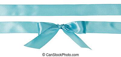 Shiny satin ribbon isolated on white background