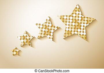 Shiny sequins stars. Eps 10 vector illustration