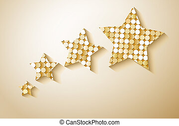 Shiny sequins stars. Eps 10 vector illustration