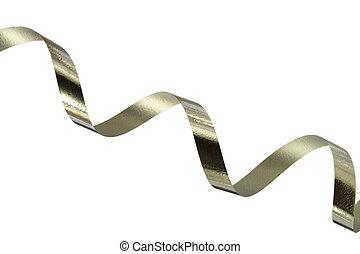 Shiny silver ribbon
