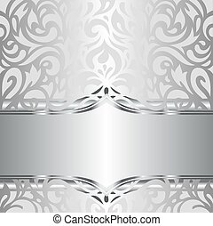 Shiny silver vintage wallpaper
