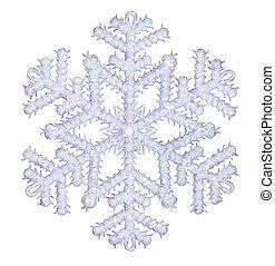 Shiny snowflake isolated on winter background