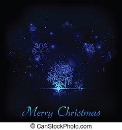 Shiny Snowflakes Christmas background