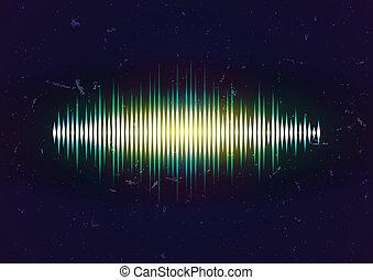 Shiny sound waveform