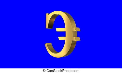 Shiny Spinning Euro Sign Screen
