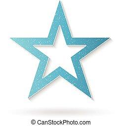Shiny Star logo. Vector graphic design