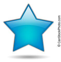 Shiny star shape
