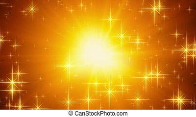 shiny stars loopable holiday background