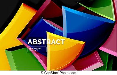 Shiny style geometric background