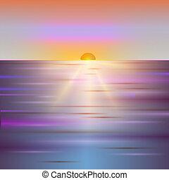 shiny sun vector, sunbeams, sunray