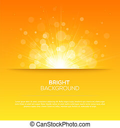 Shiny sun vector, sunbeams, sunrays, bokeh and space for ...