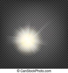 Shiny sunburst background.