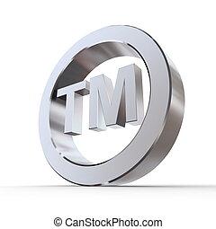 Shiny Trademark Symbol - shiny metal trademark sign -...