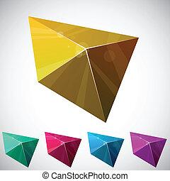 Shiny vibrant pyramid.