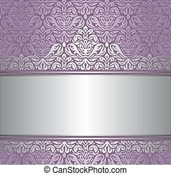 Shiny violet & silver background