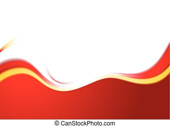 Shiny waves abstract vector background